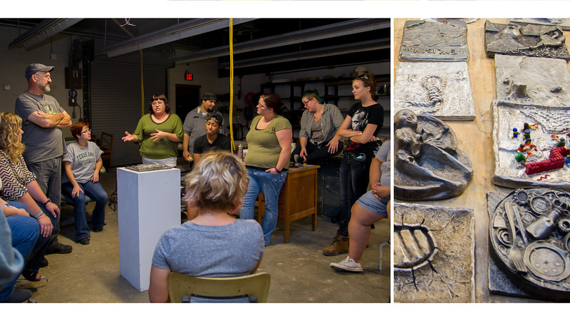Professor Jack Gron's Advanced Sculpture class presents their work on political commentary.