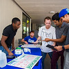 The Student Foundation Association encourages students to make posters for scholarship donors during the Go Blue Give Green campaign.