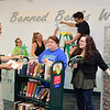 Mary and Jeff Bell library 's staffs prepare for Banned Books Week, which runs Sunday, Sept. 27 through Saturday Oct. 3 - an annual event celebrating the freedom to read.