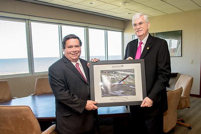 Blake Farenthold receives recognition for his support of the TAMU-CC research and development of Unammed Air Systems. More Photos: http://bit.ly/1kqH9Nf