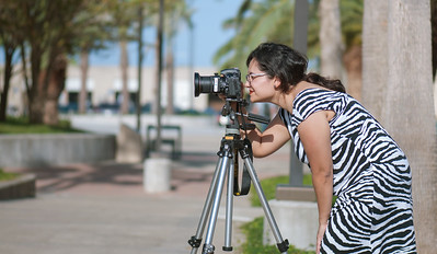 Ana Galuan from CCSD is taking a time-lapse of the new signage of the U.C.