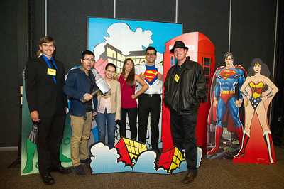 Derek Drozd(left), Phung Minh Tuan, Chau Hoang Tran Minh, Laura Pulgarin, David Fonseca and Michael Hunter at the 2015 Super Hero Dinner. More Photos: http://bit.ly/1RW98zp