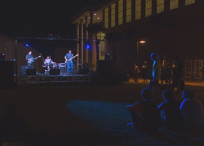 Students gather on East Lawn to enjoy the bands competing in CAB's 17th Annual Battle of the Bands.