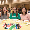 Heather De Selim (left), Mayra Rodriguez and Alissa Ramirez at the Hispanic Heritage Month Kick Off event.