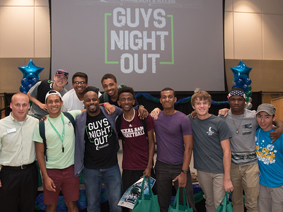 Attendees of Guys Night Out, sponsored by Student Engagement & Success, received inspirational messages from international guest speaker and author Justin Jones-Fosu, who encouraged students to build/maintain healthy relationships and make wise choices.