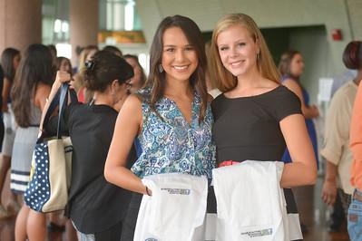 Alyssa Valerio and Tiffany Vanzant prior to the white coat ceremony.  View more photos: https://islanduniversity.smugmug.com/Events/Events-By-Year/2016/092216-White-Coat-Ceremony