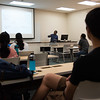 Dr. Kar teaches his Advance Computer Architecture class in Island Hall on November 1, 2016