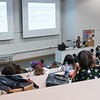 Dr. McCollough lectures her students on the laws of thermal dynamics.