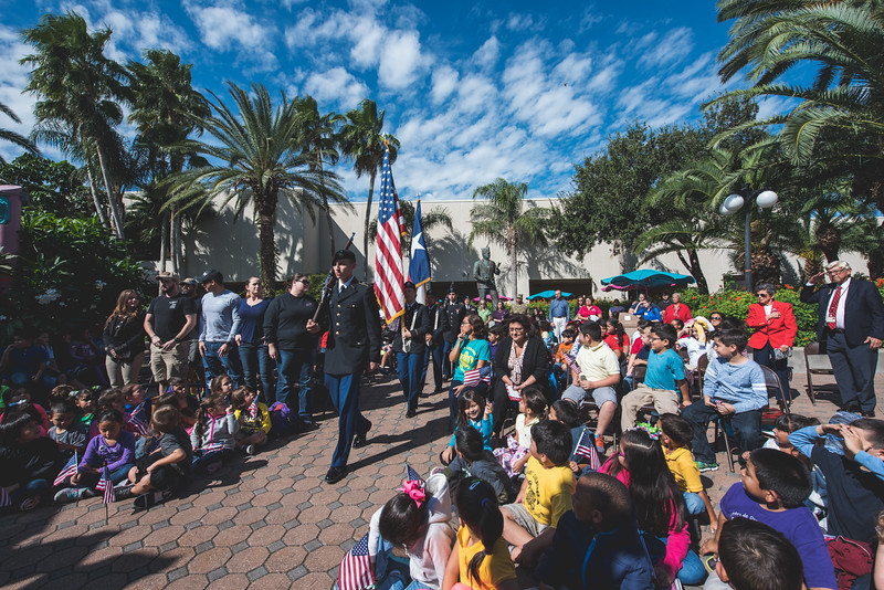 Students, faculty, staff, and community members gather to honor those who have served during TAMU-CC's Veterans Day Celebration.