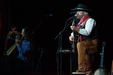 Michael Martin Murphey performs during his Cowboy Christmas Concert in the Performing Arts Center.