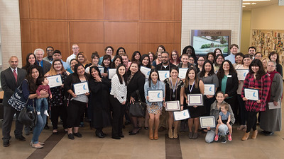 Members of the PASS program gather to celebrate their achievements with a group photo during the 2016 PASS Graduation Celebration.