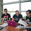 Stanley(left) Taylor Brammer and Chi Quach study for their finance class in the O'Connor building.