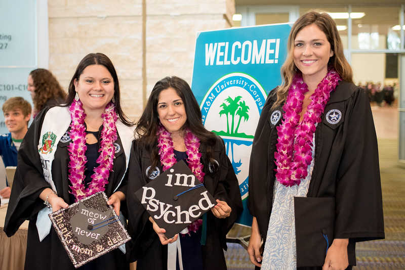 """Shannon Kittrell Meredith Garcia and Jaycie Turner gather for a photo before the 2016 Spring Commencement.<br /> <br /> More photos: <a href=""""https://flic.kr/s/aHskwtWSi2"""">https://flic.kr/s/aHskwtWSi2</a>"""