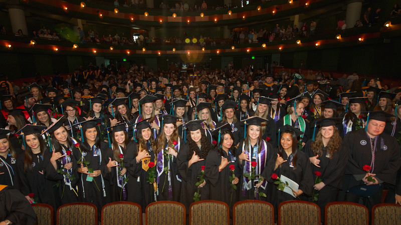 """College of Nursing and Health Sciences held the 2016 Hooding & Pinning Ceremony in the Performing Arts Center.<br /> <br /> More photos: <a href=""""https://flic.kr/s/aHskwDEZp8"""">https://flic.kr/s/aHskwDEZp8</a>"""