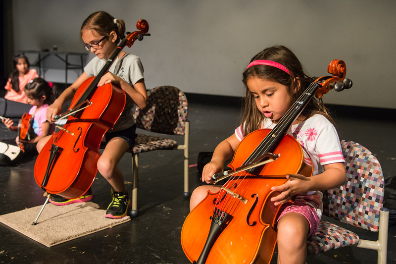 Students of Dr. Melissa Melendez and Dr. Carrie Pierce's violin and cello class demonstrate what they've learned so far.