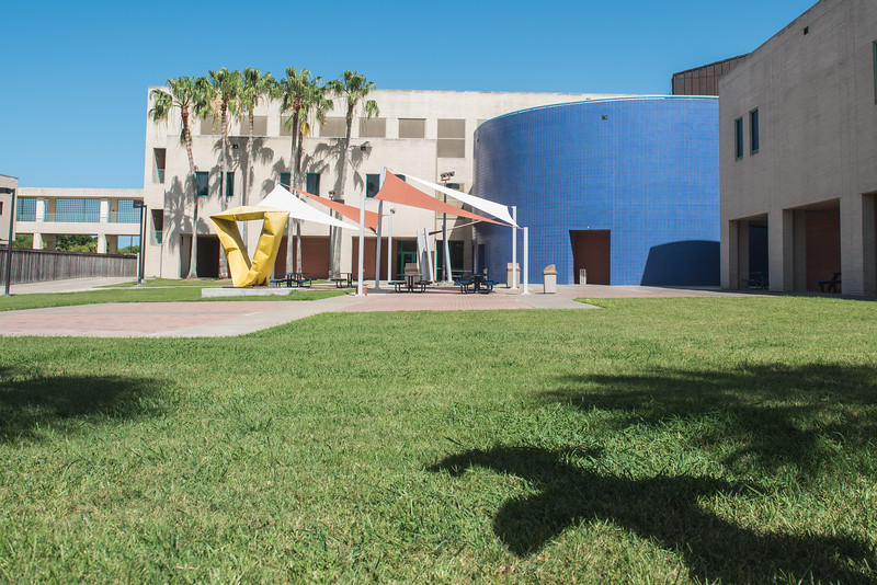 The Center for Instruction courtyard on the first day of summer.