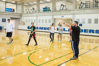 Professor G. Woods teaches Reinventing Games in the Dugan Wellness Center.