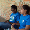 Mercedes Fonseca (right) and her Pass coworker,  Kendra Johnson, play pokemon go on their lunch break.