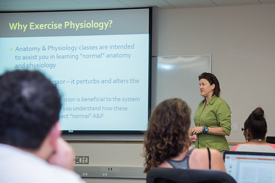 Exercise Physiology course taught by professor Dr. Webb during summer II in Island Hall