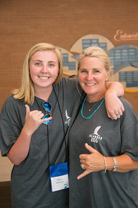 Olivia Schnoor, soon to be an english major freshman, and her mother show their TAMUCC pride.