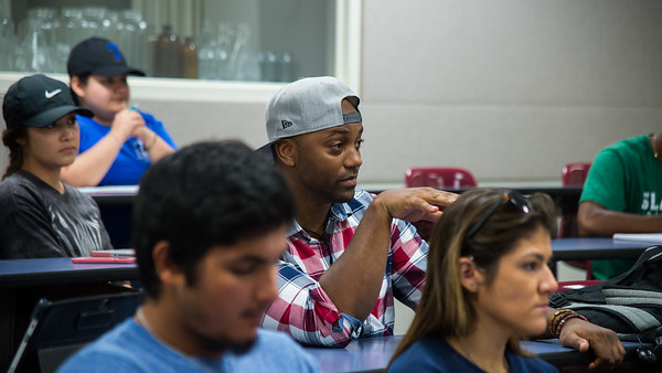 Students listen to a lecture in the Professor Baykal Altiner's Sport Conditioning class.