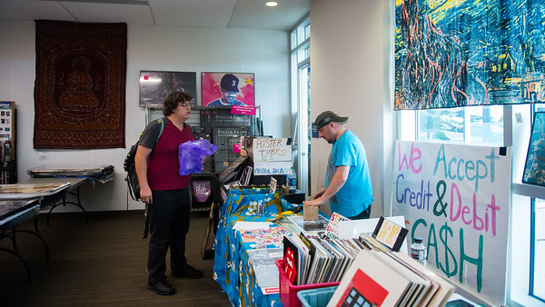 Posters selling pop-up store locates in University Center for students to buy their favorite posters