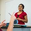 Professor Archana Krishnagiri answers student's questions in her Business Mathematics class.