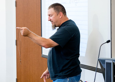 Dr. Jeffery Spirko performs a fun experiment in his University Physics II class.