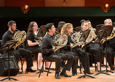 The University Brass Ensemble performed at the Performing Arts Center.
