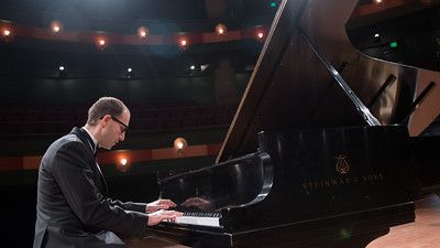 TAMU-CC Professor of Liberal Arts, Dr. Dino Mulic performs a solo piano recital in the Performing Arts Center.