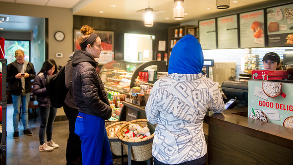 Students take a coffee break at our on-campus Starbucks.