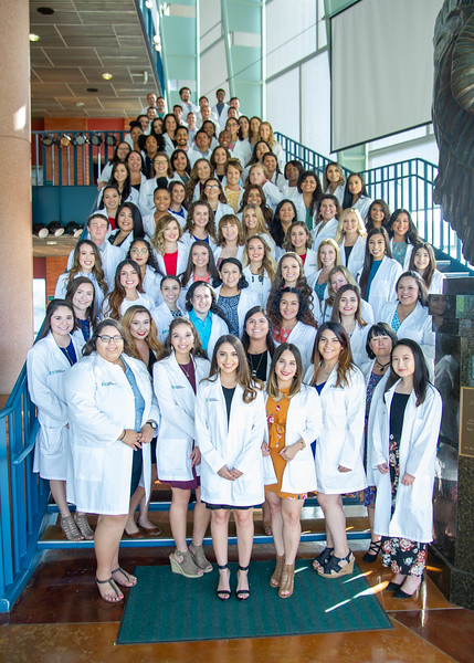 Students from the College of Nursing and Health Sciences were honored on Monday, September 18, during the White Coat Ceremony.