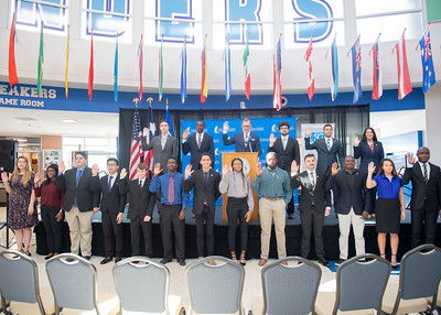 New members of the Student Government Association were sworn in on September 24, 2018 in the University Center Rotunda.