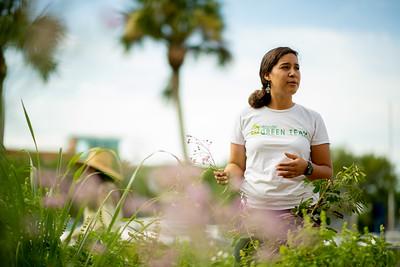Melissa Zamora at the Islander ECDC Garden.