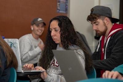 Sophia Gusmé - Students were working on first-year symposium presentations