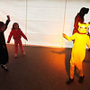 Record-Eagle/Jan-Michael Stump<br /> Levi Deters, 7, dances while dressed as Pikachu  in the Silent Disco at Saturday morning's Old Town Halloween Carnival and Monster Pancake Throwdown in Traverse City.