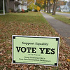 Record-Eagle/Keith King<br /> A sign advocating for a 'yes' vote on Proposal 1 is displayed Tuesday, November 1, 2011 in Traverse City.