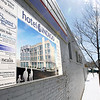 Record-Eagle file photo/Keith King<br /> A sign for Hotel Indigo is displayed on a building in Traverse City's Warehouse District.