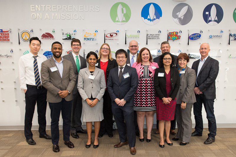 Volunteer patent and trademark attorneys gather for a photo during the Patents and Trademarks Educational Workshop that was held on Saturday January 21, 2017 at the Coastal Bend Business Innovation Center.