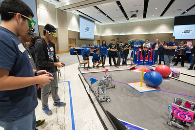 Students in grades 7-12 from the Coastal Bend area developed robots for use in their participation of the FIRST Tech Challenge League Championship.