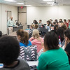 Dr. Buck answers questions during his Immunology lecture.