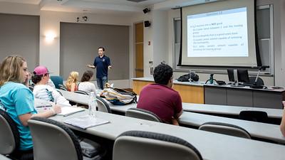 TAMU-CC David Kala reviews practice questions with his class.