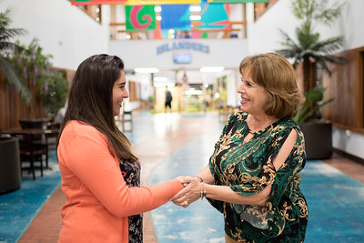 Si Se Puede scholarship recipient Ashley Cipriano (left) meets with Dr. Joann Canales, Dean of the College of Graduate Studies.