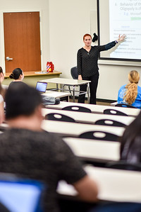 Professor Deniz Gevrek gives a lecture on Microeconomic Principles.