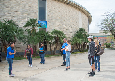 Future students tag along with family on a campus tour