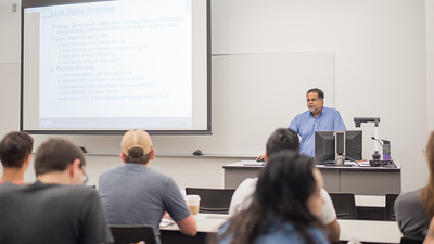 Dr. Saman DeSilva goes over the different routing algorithms during his Computer Networks lecture.