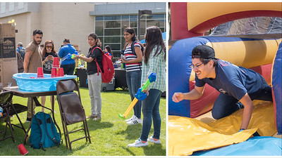 Islander students having a blast at Campus Activities Board's Wild & Wacky Wednesday on the East Lawn.
