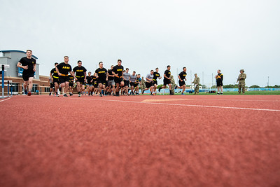 The Islander Battalion held their Army Physical Fitness Test at the Momentum Stadium.