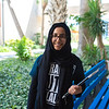 Bushra Ijaz poses for photo as she heads to study
