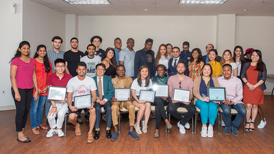 New officers were sworn in and students received awards as part on the International Student Organization's Swearing-In and Awards Ceremony.